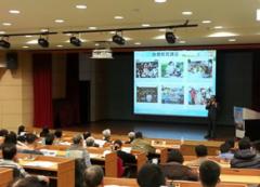 本校和雲林縣政府舉辦演講,推動友善土地的有機耕作的活動照片