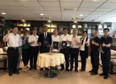 招待620位越南員工來台旅遊的台商越南精密集團,與環球科技大學締約,為環球配合新南向政策的成果再添光彩的活動照片