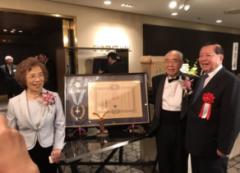 恭賀日籍講座教授百瀨惠夫榮獲日本天皇頒授「瑞寶中綬章」的活動照片
