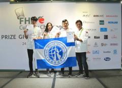 本校觀光餐飲旅館系選手參加 「2018年新加坡FHA國際廚藝挑戰賽」,榮獲1金1銀1銅的活動照片